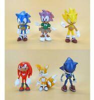 "lot of 6 Sonic The Hedgehog pvc Figures 3"""