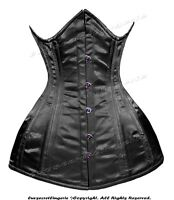 Heavy Duty 22 Double Steel Boned Waist Training Satin Underbust Corset #8422-B