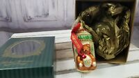Waterford babys first bottle bear glass blown Ornament tree heirlooms 1st xmas
