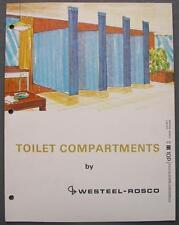 Orig 1975 Westeel Rosco Toilet/Shower Compartments Dealer Sales Brochure Canada