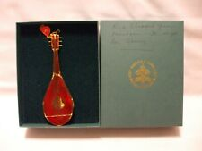 The Vatican Library Collection Mandolin Stain Glass & Metal Christmas Ornaments