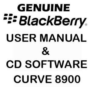 Original Genuine Blackberry Curve 8900 User Manual & CD Software Tools NEW