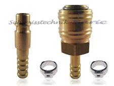 Druckluft-Kupplung Stecknippel Stecktülle NW7,2 9mm Schnellkupplung Adapter AIR