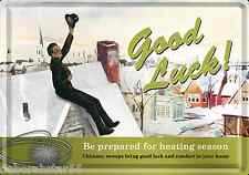 GOOD LUCK Gift New Home Job Mini Tin Plaque Retro METAL Steel POSTCARD Sign
