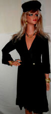 u want~~~>SEXY BOMBSHELL $2,065 Roberto Cavalli NWT BLACK DRESS 8 Va-Va~voom!!!