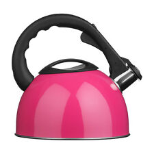 Whistling Kettle 2.5Ltr Stainless Steel Hot Pink Stylish For Home & Office New