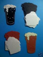 12 Beer Glasses  Die Cuts/Toppers Mens cards