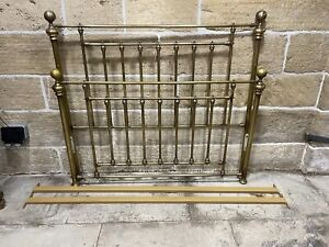 M&S MADE BY AND SO TO BED FACTORY BRASS DOUBLE BED SURROUND FRAME FOR DIVAN