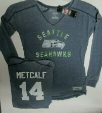 DK METCALF SEATTLE SEAHAWKS WOMANS LONG SLEEVE JERSEY SHIRT NEW  SIZE SMALL