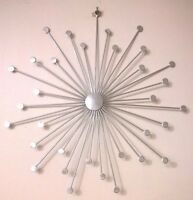 1 Contemporary Metal Wall Art Decor Sculpture Silver Abstract Hanging Picture