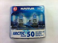 Narva Arctic PLUS White H3 headlamp Performance Globes 50% more light 48633bl2