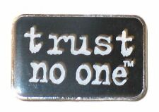 "The X-Files TV Series ""trust no one"" Metal Enamel Costume Pin"