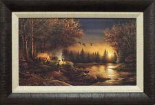 "Terry Redlin ""Evening Solitude"" Camping  Print Framed  23"" x 15.5"""
