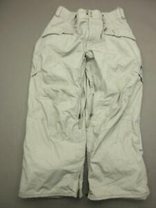 Burton Size L(35) Mens Brown Atheltic Nylon Waterproof Cargo Snow Pants T262