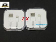 2X OEM Original Apple iPhone 6S 6 Plus 5S 7 + Lightning Data USB Cable Charger