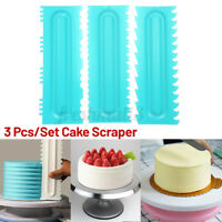 3 PCS/Set Cake Cream Decorating Comb Icing Smoother Scraper Edge Frosting