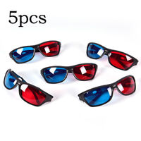 5pcs Red Blue 3D Glasses Frame for Dimensional Anaglyph Movie DVD Game YH