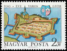 Scott # 2065 - 1971 - ' Gyor Castle in 1594 & Coat of Arms '