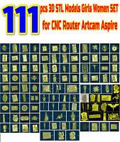 111 Pcs 3D STL Model NAKED WOMEN GIRLS for CNC Router Aspire Artcam Engraver
