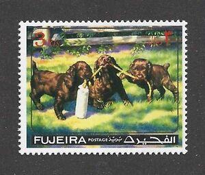 Dog Art Portrait Postage Stamp FIELD / SUSSEX SPANIEL Puppy Fujeira MNH