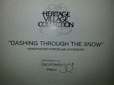 Department 56 Heritage Village Collection Dashing Through The Snow