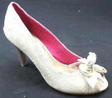 WOMENS POETIC LICENCE CONCHA BEACH CREAM GOLD HIGH HEEL COURT SHOE UK SIZE 7.5
