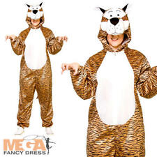 Deluxe Tiger Adults Fancy Dress Animal Wild Cat Book Day Mens Ladies Costume New