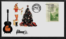 1935 Gibson L7 & Pin Up Girl Featured on Collector's Envelope *A408