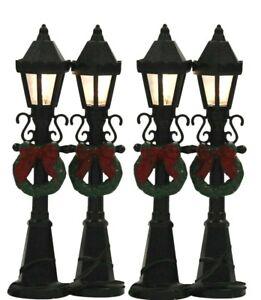 Winter Festive Decoration - Lightup Christmas Ornament Mini Village Lamp Posts