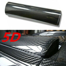 5D Car Interior Accessories Panel Black Carbon Fiber Vinyl Wrap Sticker 12