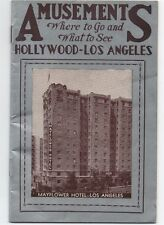"1937 Booklet "" Where to go and what to see in Los Angeles & Hollywood """
