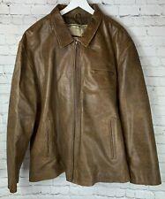 WILSON LEATHERS Mens' Brown Leather Coat Jacket Size XXXL