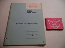 Hewlett Packard Hp 1423A Time Base Operating & Service Manual - (01423-90901)