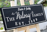 Personalized Family Wedding Sign Plaque Wedding Anniversary Solid Wood Black 025