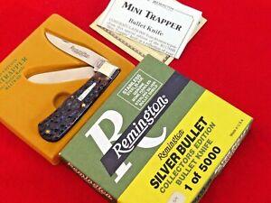Remington USA 1991 bone R1178 SB SILVER baby bullet Trapper 1/5000 knife MIB ld