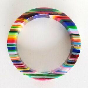 Carlos Sobral Jackie Brazil Bullseye Multicolored Resin Bangle Bracelet