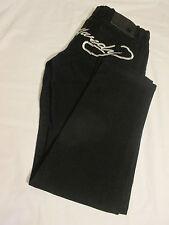 """ED HARDY/CHRISTIAN AUDIGIER Women's Designer Jeans 28(31 x 29"""")Black Embroidered"""