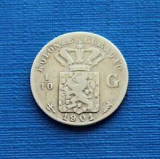 1 / 10 Gulden 1901 Kolonie Curacao Curaçao Niederlande Silber Münze