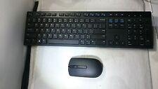 OEM Original Dell Keyboard WK636 And Wireless Mouse XF89J Black Combo w/Logitech