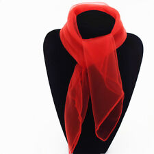 Solid Color Small Scarf  Vintage Chiffon Wrap Hair Head Neck Tie Fancy Gift