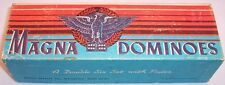 Vintage Milton Bradley Magna Dominoes Eagle, A Double Six Set, No. 225