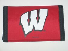 Wisconsin Badgers Trifold Nylon Wallet With Coin Pockets