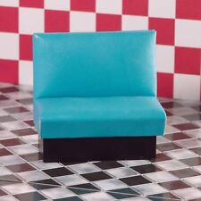 Dolls House Miniature Emporium 1/12th Scale Turqoise Diner Seat Bench 3979
