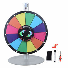 "Voilamart 15"" Prize Wheel Stand Fortune Spinning Game Tabletop Color Dry Erase"