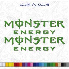 2X PEGATINA LOGO MONSTER ENERGY VINILO STICKER DECAL AUTOCOLLANT NOMBRE SPONSOR