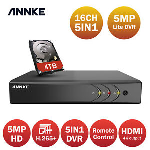 ANNKE 8CH H.265+ 5MP Lite DVR Recorder for CCTV Home Surveillance Camera System