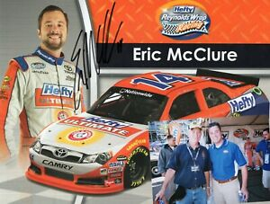 ERIC MCCLURE HAND SIGNED AUTOGRAPH HERO DRIVERS NASCAR CARD