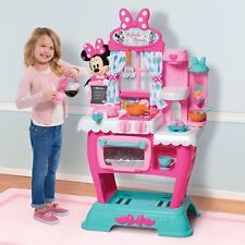 Minnie Mouse Kitchen Play Set Kids Girls Pink Pretend Toys Children Toddler Gift