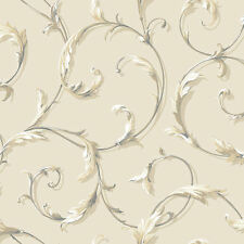 Acanthus Scroll Wallpaper by York  AB1962  per Double Roll