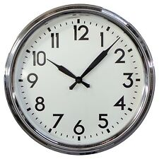 "Schoolhouse 20"" Wall Clock by Threshold - Brand New - Free Shipping"